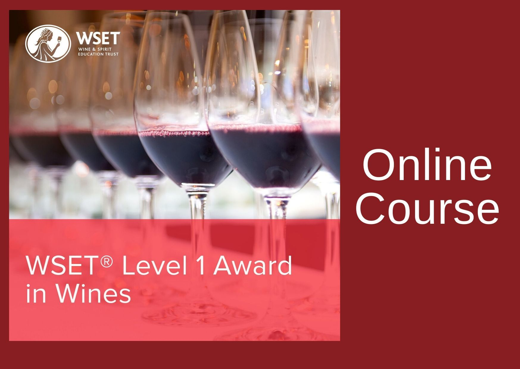 WSET Level 1 Award in Wines & Exam - Online - x4 Evenings