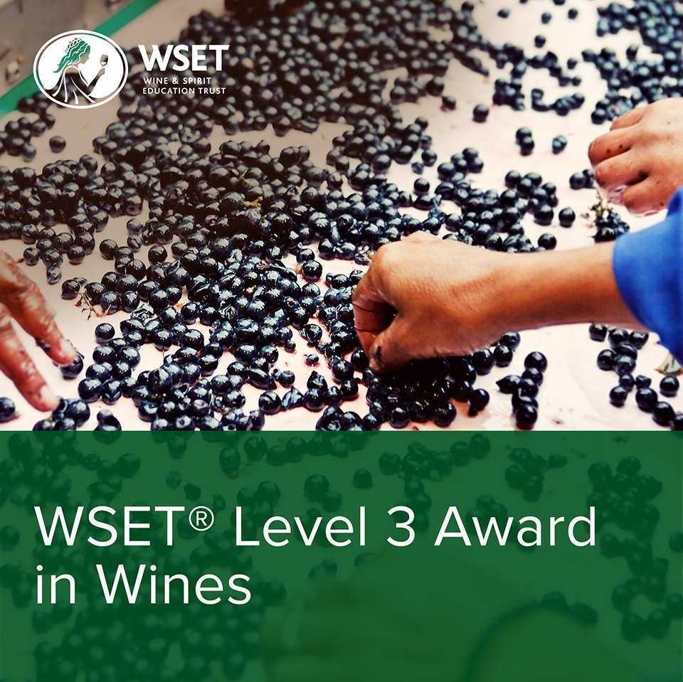 WSET Level 3 Award in Wines Course: Saturday Format (Classroom)