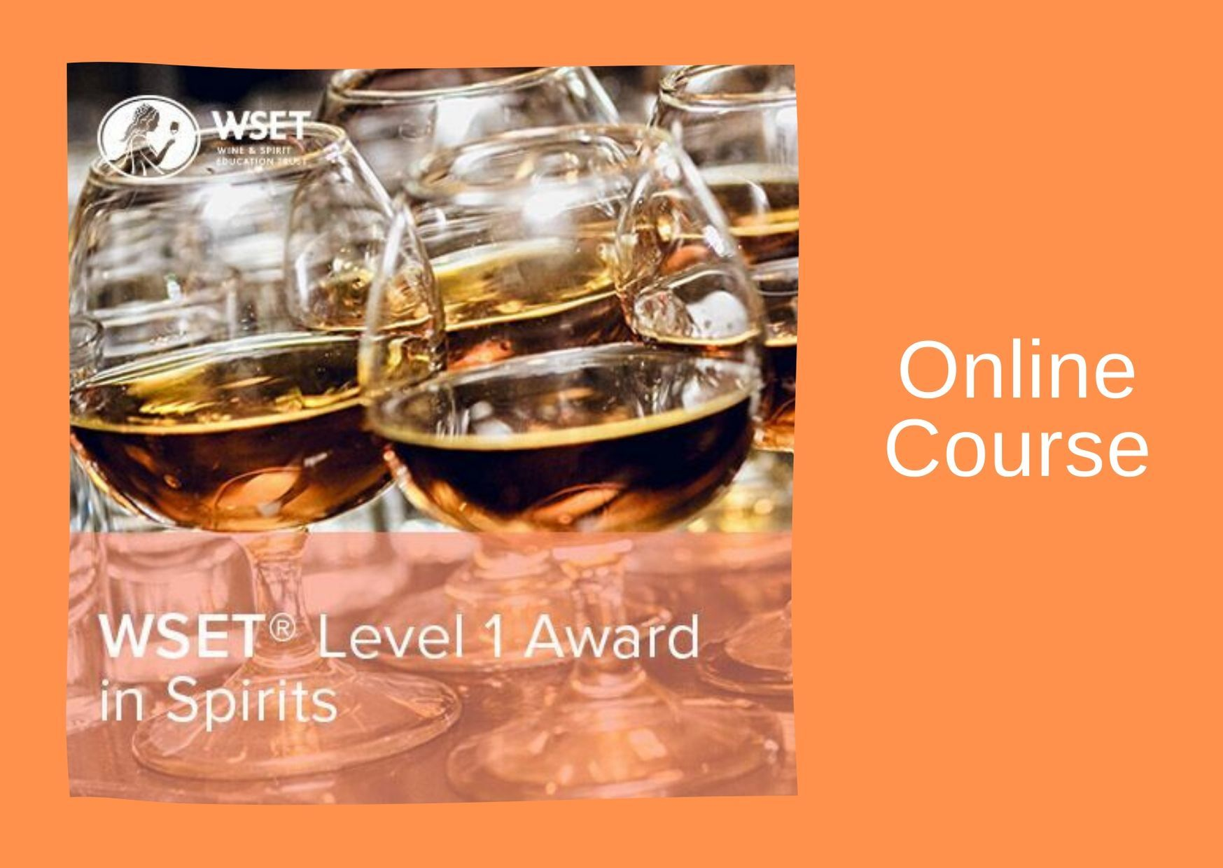 WSET Level 1 Award in Spirits & Exam - online